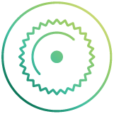 fibre grinding saw icon